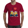 T-SHIRT DONNA I LOVE MINIONS CATTIVISSIMO ME  IDEA REGALO ROAD TO HAPPINESS Mens T-Shirt