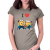 T-SHIRT DONNA I LOVE MINIONS CATTIVISSIMO ME  IDEA REGALO ROAD TO HAPPINESS Womens Fitted T-Shirt