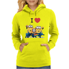 T-SHIRT DONNA I LOVE MINIONS CATTIVISSIMO ME  IDEA REGALO ROAD TO HAPPINESS Womens Hoodie