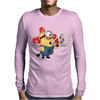T-SHIRT DONNA MINIONS POMPIERE CATTIVISSIMO ME 2 IDEA REGALO Mens Long Sleeve T-Shirt