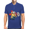 T-SHIRT DONNA MINIONS POMPIERE CATTIVISSIMO ME 2 IDEA REGALO Mens Polo