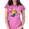 T-SHIRT DONNA MINIONS POMPIERE CATTIVISSIMO ME 2 IDEA REGALO Womens Fitted T-Shirt