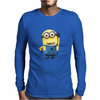 T-SHIRT MINIONS CATTIVISSIMO ME  BIANCO THE HAPPINESS IS HAVE MY T-SHIRT NEW Mens Long Sleeve T-Shirt