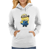 T-SHIRT MINIONS CATTIVISSIMO ME  BIANCO THE HAPPINESS IS HAVE MY T-SHIRT NEW Womens Hoodie