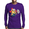T-SHIRT UOMO MINIONS POMPIERE CATTIVISSIMO ME 2 CARTOON IDEA REGALO Mens Long Sleeve T-Shirt