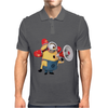 T-SHIRT UOMO MINIONS POMPIERE CATTIVISSIMO ME 2 CARTOON IDEA REGALO Mens Polo