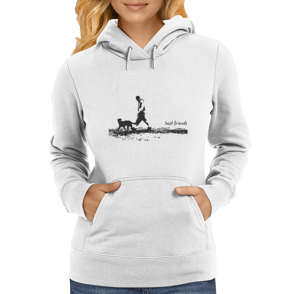 t-shirt,dog,friends,best,man,pet,love,walk Womens Hoodie
