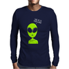 Take Me To Your Leader Alien Mens Long Sleeve T-Shirt