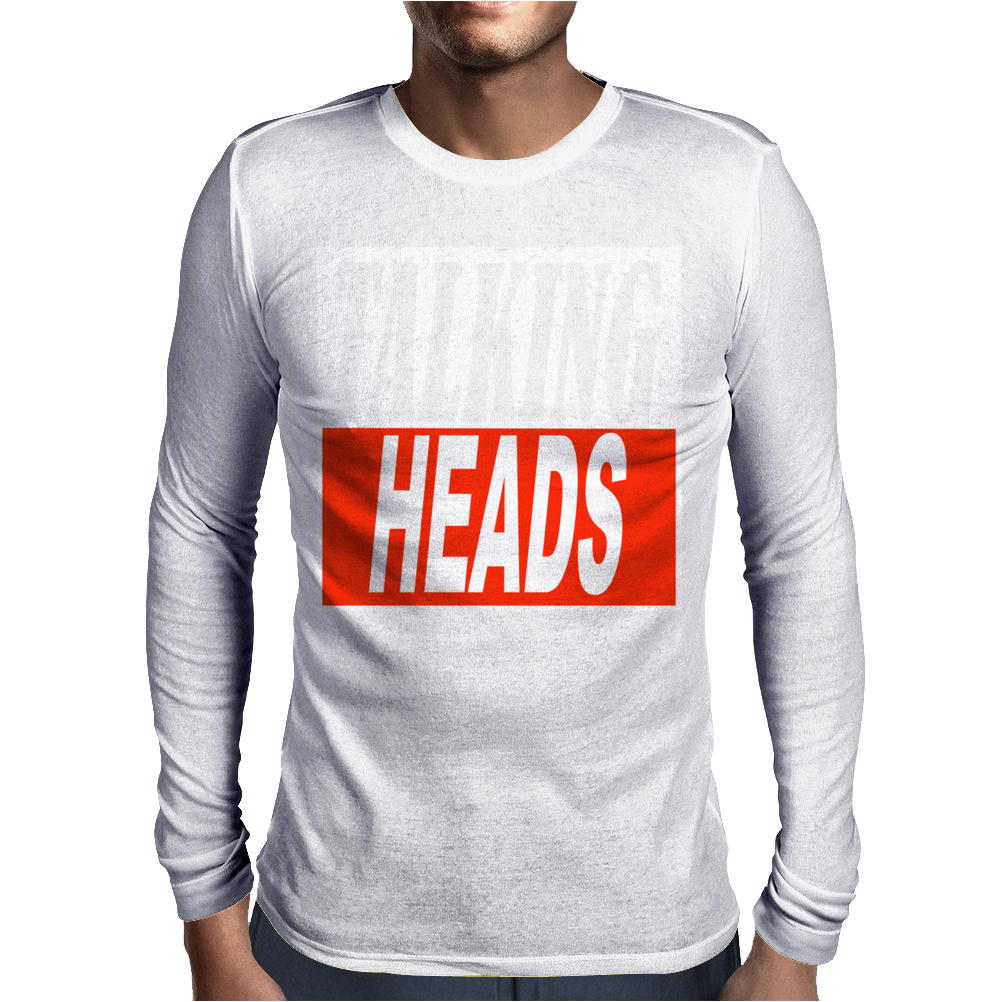 Talking Heads Retro New Wave Music Mens Long Sleeve T-Shirt