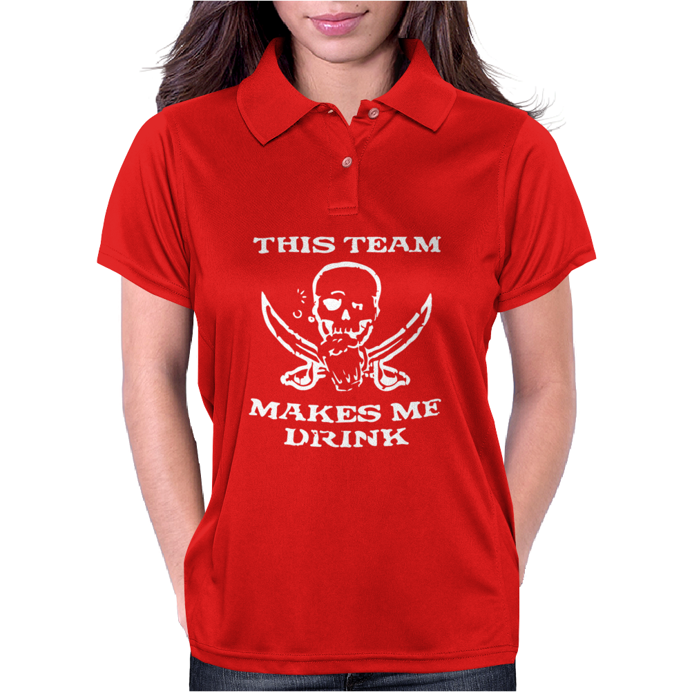 Tampa Bay Buccaneers This Team Makes Me Drink Womens Polo