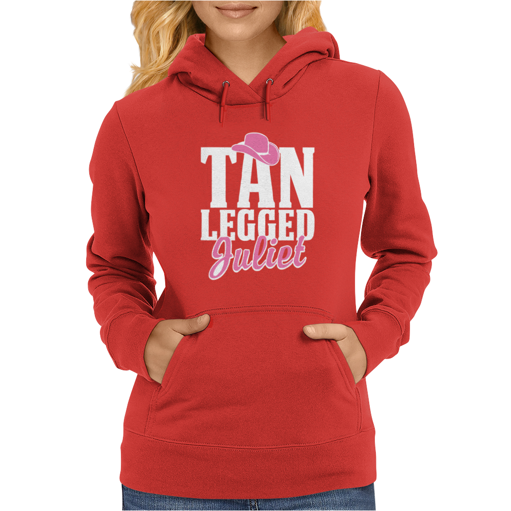 Tan Legged Juliet Womens Hoodie