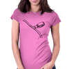 Taping cord illustration Womens Fitted T-Shirt