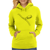 Taping cord illustration Womens Hoodie