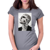Tattoo Smoke Sigaretta Skull Womens Fitted T-Shirt