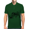 Taurus Bull Zodiac Original Art Abstract Mens Polo
