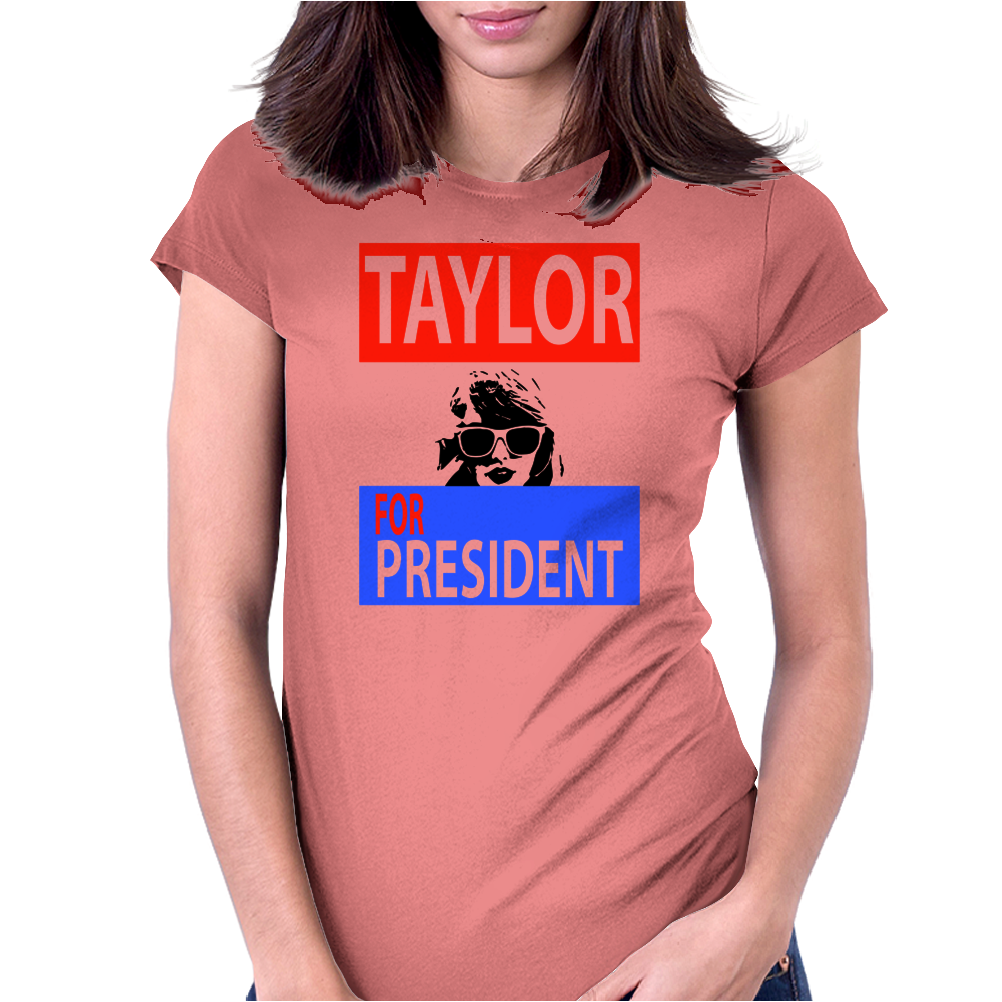 Taylor for President Womens Fitted T-Shirt