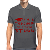 Teachers know stuff - red Mens Polo