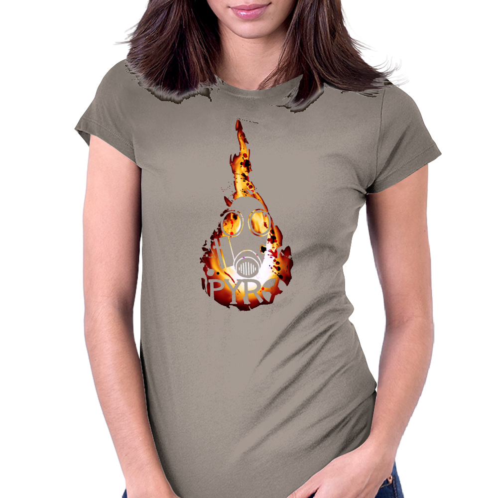 Team Fortress 2 - The Pyro Womens Fitted T-Shirt
