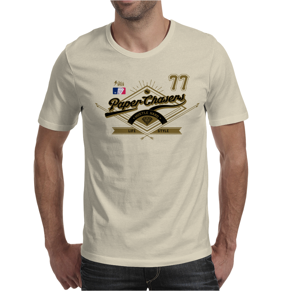 Team Paper Chasers 77 Mens T-Shirt