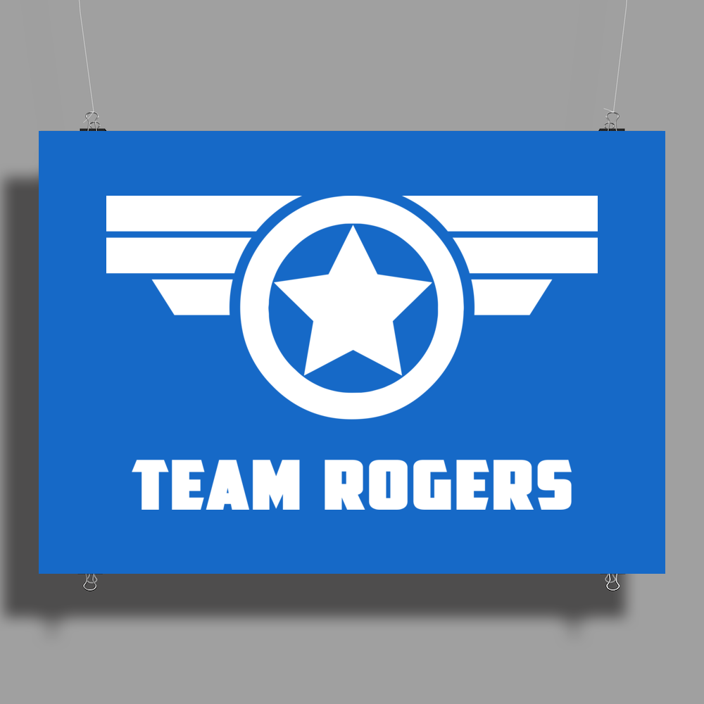 Team Roger Civil War Poster Print (Landscape)