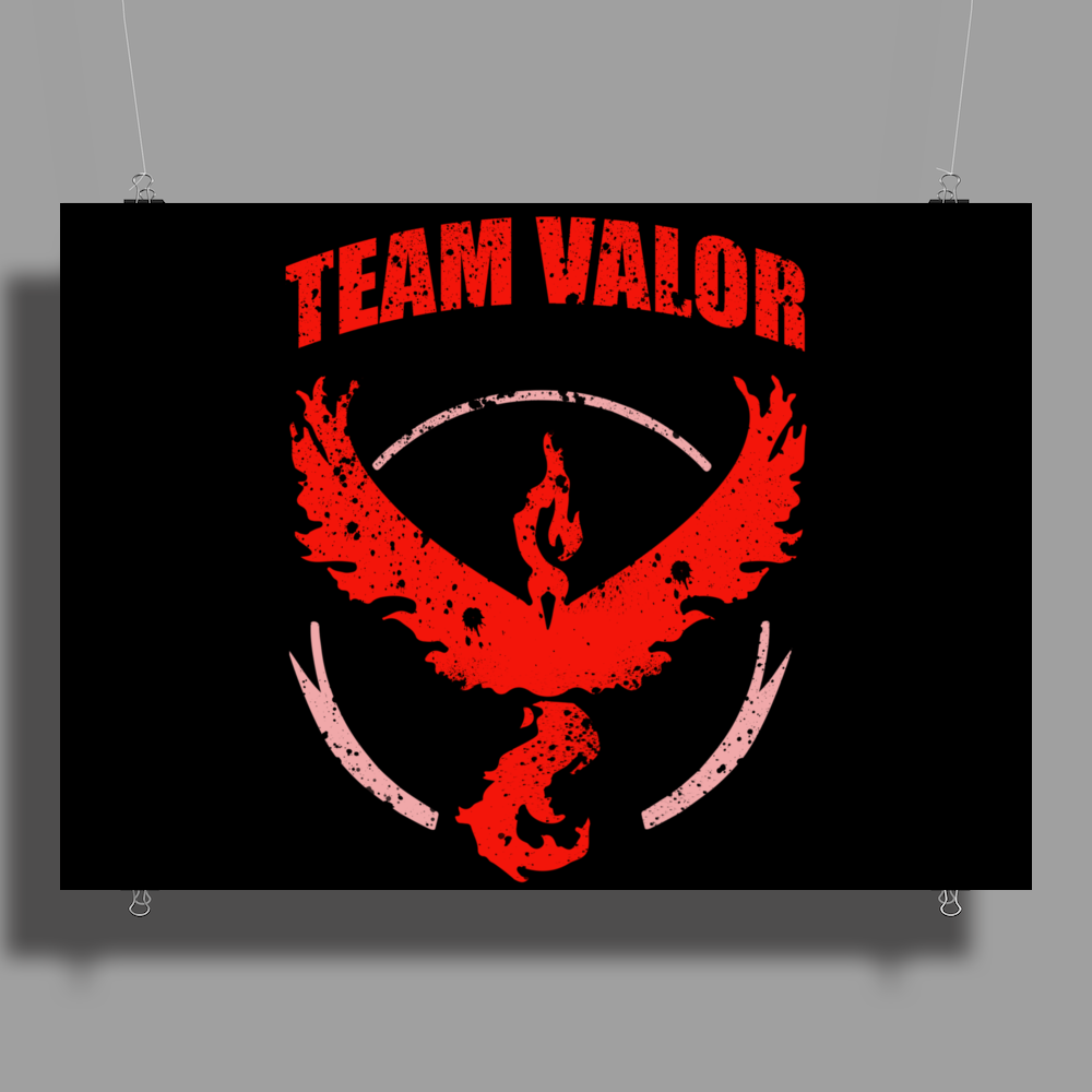Team Valor Pokemon Go Poster Print (Landscape)