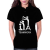TEAM WORK funny Womens Polo