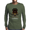 Technics Dj Skull Mens Long Sleeve T-Shirt