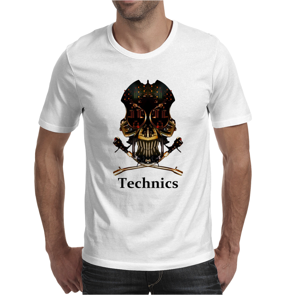 Technics Dj Skull, Mens T-Shirt