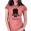 Technics Dj Skull, Womens Fitted T-Shirt
