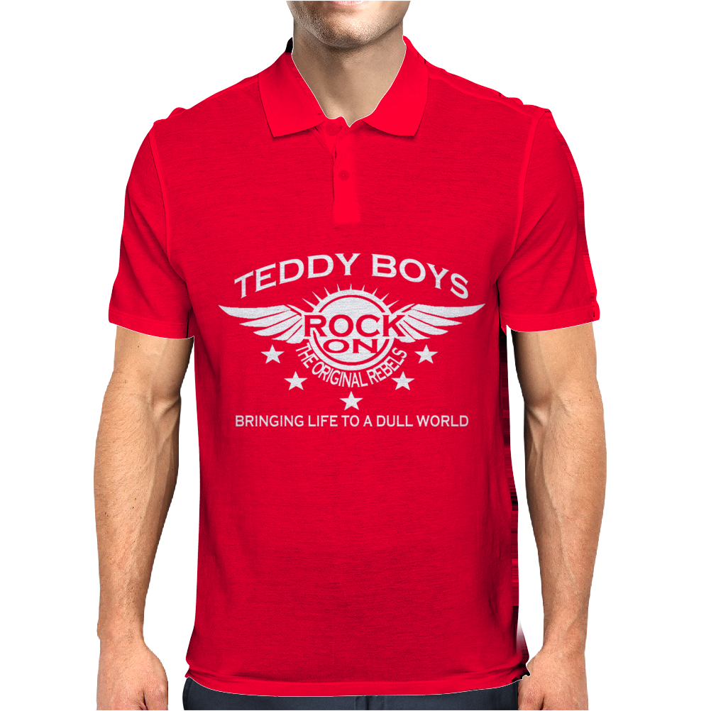 Teddy Boy Homage. Mens Polo
