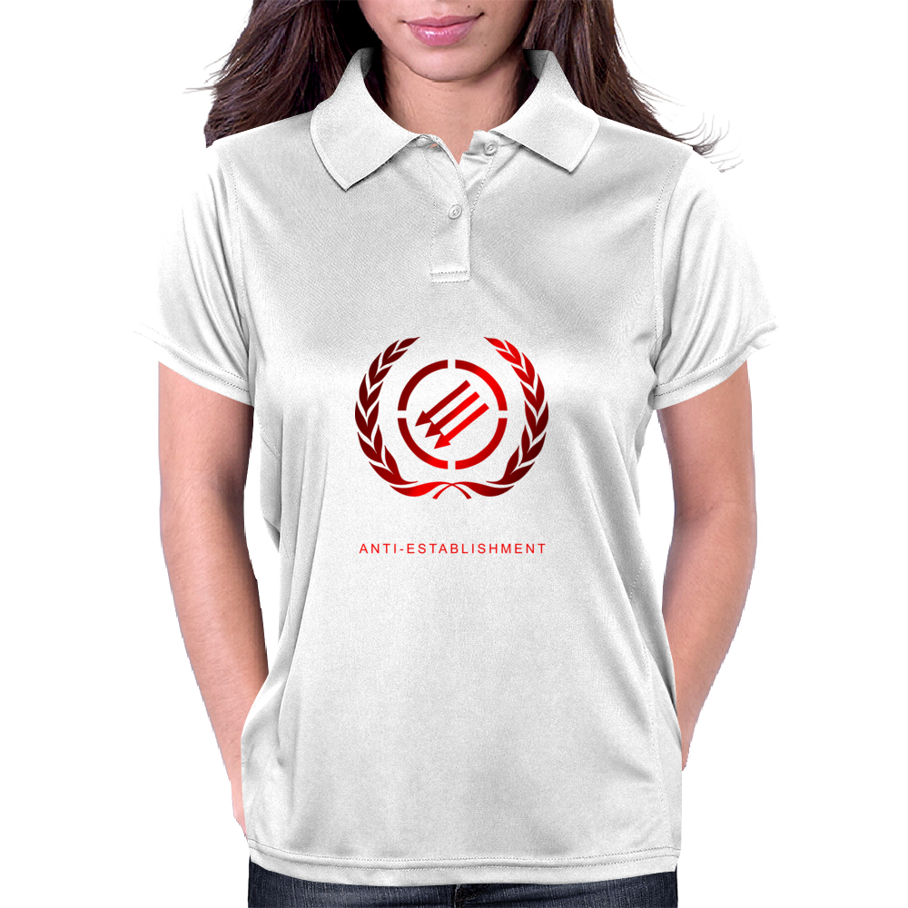 Teenage Riot Anti-Establishment laude Womens Polo