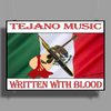Tejano Music, Written With Blood Poster Print (Landscape)