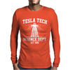 Tesla Tech Science Dept - Fun Science Tech Cool Nerd Electricity Energy Mens Long Sleeve T-Shirt