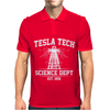 Tesla Tech Science Dept - Fun Science Tech Cool Nerd Electricity Energy Mens Polo