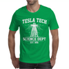 Tesla Tech Science Dept - Fun Science Tech Cool Nerd Electricity Energy Mens T-Shirt