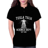 Tesla Tech Science Dept - Fun Science Tech Cool Nerd Electricity Energy Womens Polo