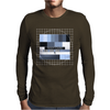 test card analog test pattern retro TV vintage television cold print black and white monochrome Mens Long Sleeve T-Shirt