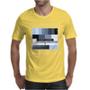test card analog test pattern retro TV vintage television cold print black and white monochrome Mens T-Shirt