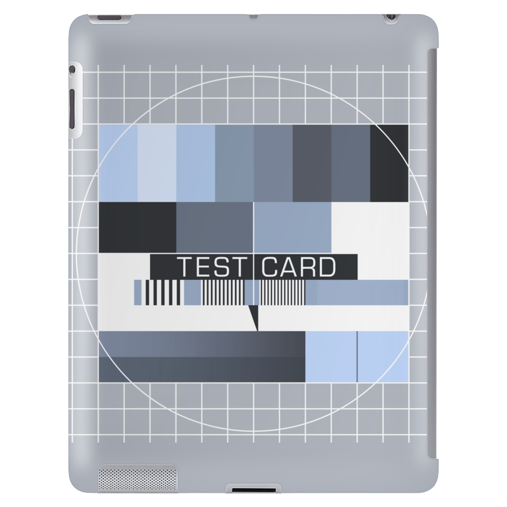 test card analog test pattern retro TV vintage television cold print black and white monochrome Tablet