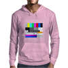 test card analog test pattern retro TV vintage television Mens Hoodie