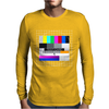 test card analog test pattern retro TV vintage television Mens Long Sleeve T-Shirt