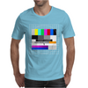 test card analog test pattern retro TV vintage television Mens T-Shirt