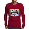 test card vintage retro colorful telescreen Mens Long Sleeve T-Shirt