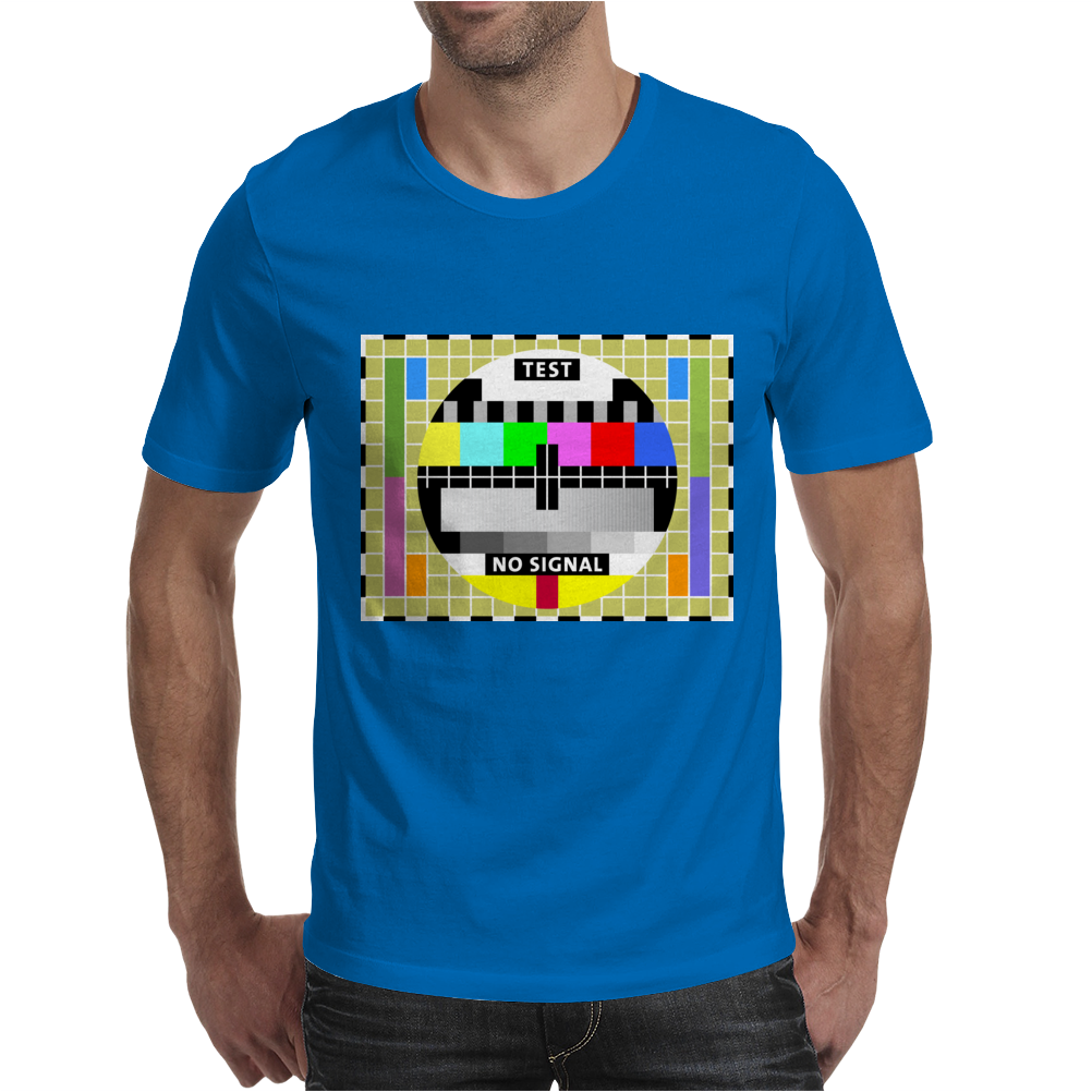 test card vintage retro colorful telescreen Mens T-Shirt