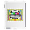 test card vintage retro colorful telescreen Tablet