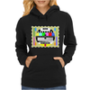 test card vintage retro colorful telescreen Womens Hoodie