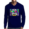 test card vintage retro colorful tv screen television Mens Hoodie