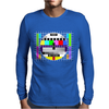test card vintage retro colorful tv screen television Mens Long Sleeve T-Shirt