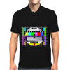 test card vintage retro colorful tv screen television Mens Polo