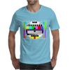 test card vintage retro colorful tv screen television Mens T-Shirt
